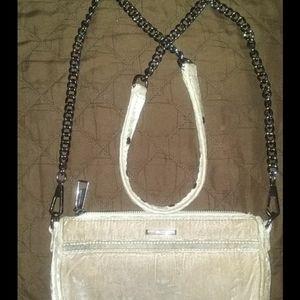 Rebecca Minkoff Pink Suede Crossbody Shoulder Bag